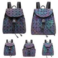 #744 Duffle Bags Women Travel Hand Bag Luggage Designer Luminous Bag Travel Body Backpack Large Cross 2020 Pu Geometric 55Cm Men Iaqnw