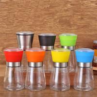 Movimento della mano pepe nero Grinder forniture da cucina smerigliatrice di vetro Shaker contenitore di sale condimento vaso T9I00157