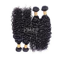 Perulu Bakire Su Dalgası Saç İnsan Saç uzantıları 3 Paketler çok% 100 İşlenmemiş Doğal Siyah Ucuz Kıvırcık saç Atkı