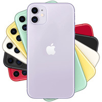 Orijinal Yenilenmiş Apple iPhone 11 iOS 6.1 inç A13 Bionic Hexa Çekirdek 4 GB RAM 64 GB 128 GB 256 GB ROM 12MP Unlocked 4G LTE Cep Telefonu 1 adet