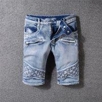Pantalon skinny skinny bleu délavé blanc bleu été Jeans