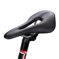 GUB 1136 microfibra de bicicleta couro Silica Gel oco Almofada Saddle MTB Estrada Corrida de bicicleta Selas respirável Almofada