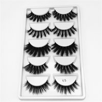 5 Pairs of 3D Faux Mink Lashes Mixed Lashes 5 in 1 False Eye...