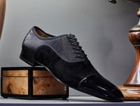 Flats üzerinde İlkbahar / Yaz Homme Kırmızı Alt Oxfords Elbise Ayakkabı loafer'lar Lüks Parti Düğün Ayakkabı Tasarımcısı siyah rugan Erkek Süet Kayma