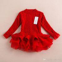 Vieeolove девушки Babys кружева пачка свитер платья дети детская одежда 2019 новая осень зима с длинным рукавом Рождество платье принцессы ZZ-982