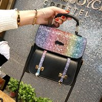 Simple Shoulder Bag Women Lychee Patten Daily Shopping All- P...