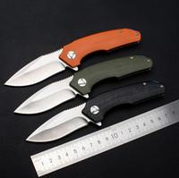 Promoción de 3 colores maneja el cuchillo plegable Flipper 9Cr18Mov G10 de la lámina de raso Teniendo Mango bola EDC cuchillos de bolsillo del regalo del cuchillo del EDC Gear