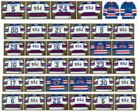 1980 USA K1 Olympic Jersey 3 KEN MORROW 23 DAVE CHRISTIAN 17 JACK O'CALLAHAN 6 BILL BAKER 25 BUZZ SCHNEIDER 5 MIKE RAMSEY MCCLANAHAN Hockey