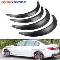 4pcs del coche universal Negro Fender bengalas barro solapas Los guardabarros de la rueda del arco labio de la ceja para el carro del coche SUV