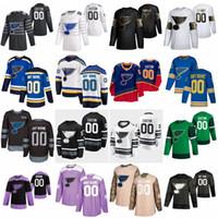 2020 All Star Ryan 90 O'Reilly Binnington Personalizado St. Louis Blues Hockey Jerseys 57 David Perron 10 Brayden Schenn 27 Alex Pietrangelo