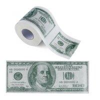 مائة دولار فاتورة مطبوعة ورق التواليت دولار أمريكا الولايات المتحدة الأنسجة الجدة مضحك $ 100 TP المال لفة