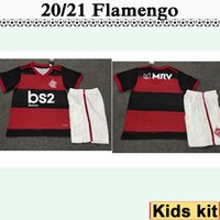20 21 Flamengo Enfants Kit Football Maillots New DIEGO E. RIBEIRO GUERRERO H. DOURADO Accueil Football chemisettes Garçon Camisetas de Futebol