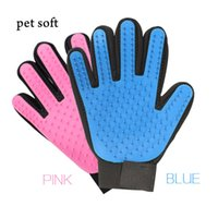 Уход за домашними животными Перчатки для ухода за мягкими щетками для чистки животных Силиконовые перчатки для чистки домашних животных Перчатки для чистки ванны для животных