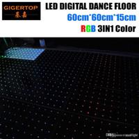 Ex-Works Preis 60cmx60cm führte Digital-Tanzboden RGB 3IN1 6X6 Dot Pixel Acrylic Panel-Weiß / Schwarz Tanz Bühnenboden 6 mm dick