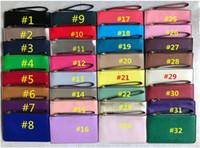 الفتيات بو الجلود محفظة السوار سستة محفظة مخلب حقيبة السفر الرياضة بطاقة الائتمان أكياس المال المرأة حقيبة يد عملة محفظة 32 الألوان