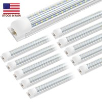 Zasoby w USA + Cnsunway 8FT LED Light 120W Zintegrowany T8 LED Light Tube 8 stóp Podwójne boki 576leds 15000 Lumenów AC 100-277V