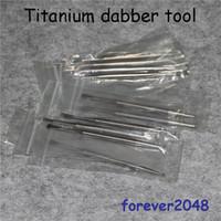 NUOVO strumento in titanio GR2 titanio con sfera e paletta per cera d'olio in titanio Dabble L 110mm