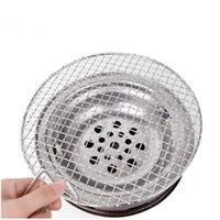 265mm mesh bbq grill racks with handle grid for cooking kore...