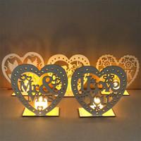 MR MRS 보드 소박한 웨딩 장식 DIY 크리 에이 티브 장식 하트 모양의 LED 촛불 라이트 파티 기사 4jm p1