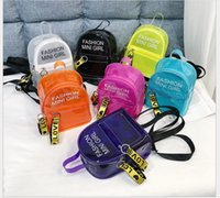 Girl' s Clear PVC Shoulder Bags Candy Color Children Jel...