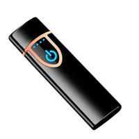 USB aufladbare Zigarettenanzünder Doppelseiten Heizspule Zigarrenanzünder elektrischen Berührungs Zündsteuerung Fingerabdrucks feinfühlige Steuerung