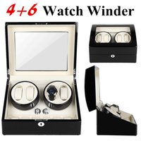 PU Leather Automatic 4+ 6 Watch Winder Rotator Storage Case D...