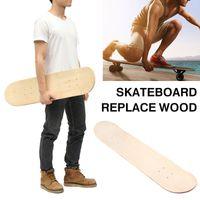 En blanco tabla de patinar doble skate board de bricolaje de madera de 8 pulgadas de 8 capas de arce ejercicios al aire libre cóncavo doble cubierta de Longboard