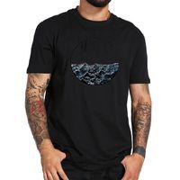 패션 웨이브 패턴 남성 T 셔츠 캐주얼 반소매 크루 넥 T 셔츠 긴장 고쳐 티셔츠 tshirt MC77