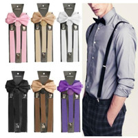 20set New Unisex Adult 3 Clips Suspenders Clip- on Y Back Ela...