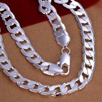 10MM larghezza di moda semplice in acciaio inox 925 collana grossa catena placcata per Hain cordolo collana figaro stile nuovo