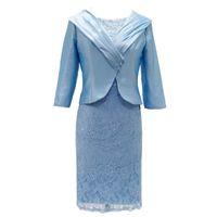 Платья матери Мать невесты Платья с куртками Свадебная вечеринка Гость Плюс Размер кружевной длиной колена
