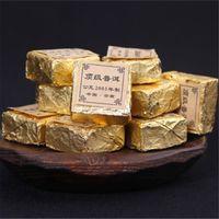Sıcak satış 100g Olgun Puer Çay Yunnan Üst dereceli Pu er Çay Tuğla Organik Doğal Pu'er En Eski Ağacı Puer Siyah Puerh Çay Pişmiş