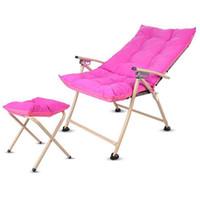Beach Chair Набор Открытый Мебель Пляж Стулья шезлонги Компьютер Foot Rest Председатель Red Coffee Blue Green Living Room