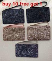 Neue Kupplungsbeutel Wristlets Weihnachtssterne Brieftaschen Glänzende Glitter Sparkle Münze Geldbörsen Karteninhaber 5 Farben