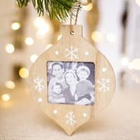 Photo en bois bricolage Cadre de Noël arbre de Noël Pendentif Ree Décorations Ornements Décorations pour la maison