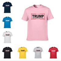 Donald Trump 2020 TShirt das mulheres dos homens em torno do pescoço T-shirts Modal camisetas Faça América grande Novamente Letters Imprimir Casual Top Tees T camisas D22502