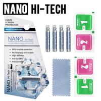 Protector de pantalla NANO HI-TECH 1ML LÍQUIDO 3D Curved Edge Anti rayado Película de vidrio templado para iPhone 8 x 11 Samsung S8 S10 S20 Teléfono Android
