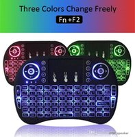 Rii I8 Smart Fly Air Mouse Retroiluminación Remota 2.4 GHz Teclado Bluetooth Inalámbrico Control Remoto Touchpad Para S905X S912 TV Android Box X96 T95