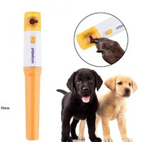 Nail perro Clippers herramienta de pedicura para mascotas eléctrico automático del animal doméstico amoladora animal doméstico del gato del perrito de la pata de la garra del dedo del pie clavo de la amoladora y estética OOA4874