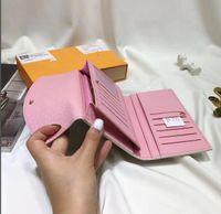 Высокое качество с коробкой реальной кожи многоцветный кошельщик монеты длинные кошельки держатель карты классический карман молнии M60136