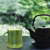 Pure Natural Cup Bamboo Grande Capacidade verde Environmentally Friendly Green Tea Natural Pure Handmade Bamboo Tea Cups Água Cup