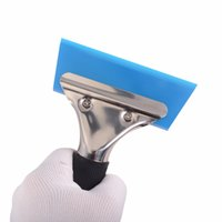 Window Water Wiper Squeegee Handled Rubber Ice Scraper Blade...
