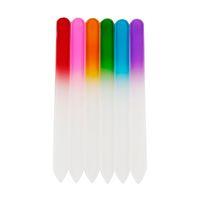 La herramienta del arte colorido de uñas de cristal Archivos cristalina durable de lima de uñas Buffer del clavo por NailCare herramienta de la manicura UV polaco DHL rápida