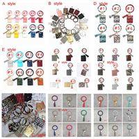 Armreif-Karten-Beutel-Mappen-Schlüsselanhänger Armband Schlüsselanhänger Leopard Handtaschen-Leder-Armband-Schlüsselanhänger Kreditkarteninhaber mit Quaste ZZA2304