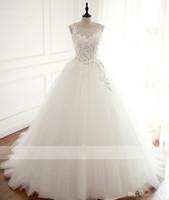 리얼 로브 드 모아지 웨딩 드레스 2021 볼 가운 보트 넥 사용자 정의 만든 Vestidos de Novia Bridal Gown