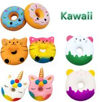 Emoji Unicorn Kitty Squishy Donuts Smiling Face Doughnut Squ...