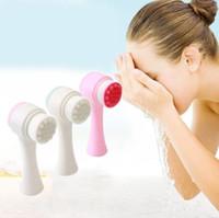 Dupla face de limpeza Escova rosto suave silicone facial profunda Pore escova de limpeza Anti- Esfoliante de Rosto Skincare com alta qualidade