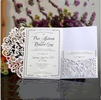Convite do casamento Cartões Kits Birthday Party graduação convite nupcial Cut bolso cartão do acoplamento Laser Flor da Primavera Convida LXL354-A