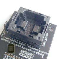 NAND flash Okuyucu programcı eMMC yuvası eMCP serisi Adaptörü eMMC cips veri kurtarma cihazı Freeshipping eMMC100 soket USB Tectep BGA100