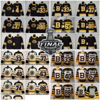 2019 Stanley Kupası Boston Bruins Patrice Bergeron Siyah Üçüncü Jersey Torey Krug Tuukka Rask Zdeno Chara David Pastrnak Brad Marchand Boston